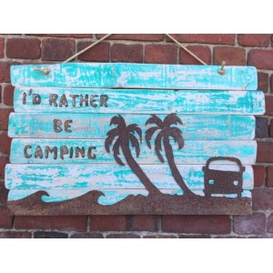 Driftwood Camping Sign