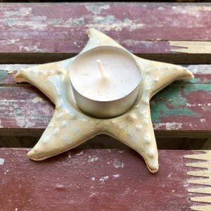 starfish ceramic tealight