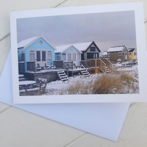 Beach Hut Christmas Card