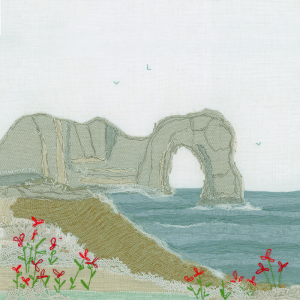Durdle Door Textile Art