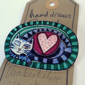 Cat Lover Brooch