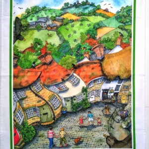 gold_hill_shaftesbury_tea_towel_flat