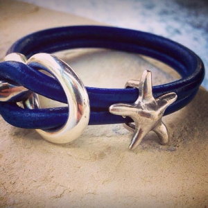 Nautical Leather Bracelet