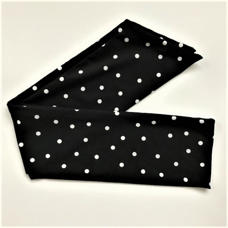 Black and Ivory White Spotty Headtie